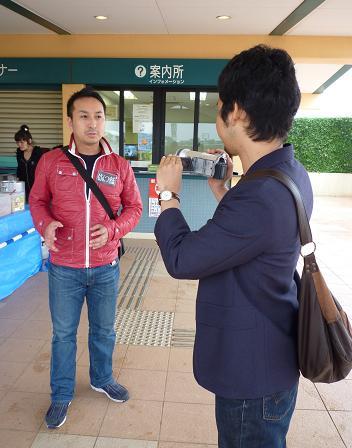 『らーめん屋台祭』@中山競馬場 テレ朝取材