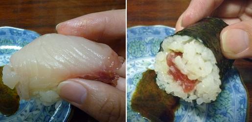 『みどり鮨 支店』 ハマチと鉄火巻
