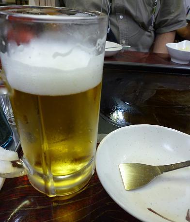 『もん吉』 生ビールとはがし