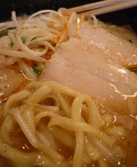 『くるり』 みそらぁめん(麺とチャーシュー)