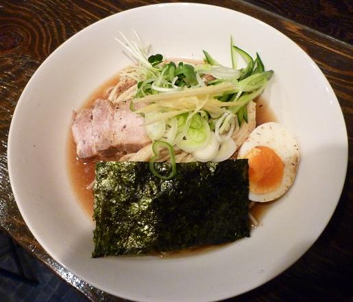 『麺処 遊』 冷煮干そば(700円)