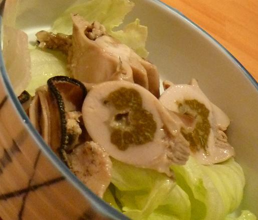 『ゆた華』 お通しの牡蠣