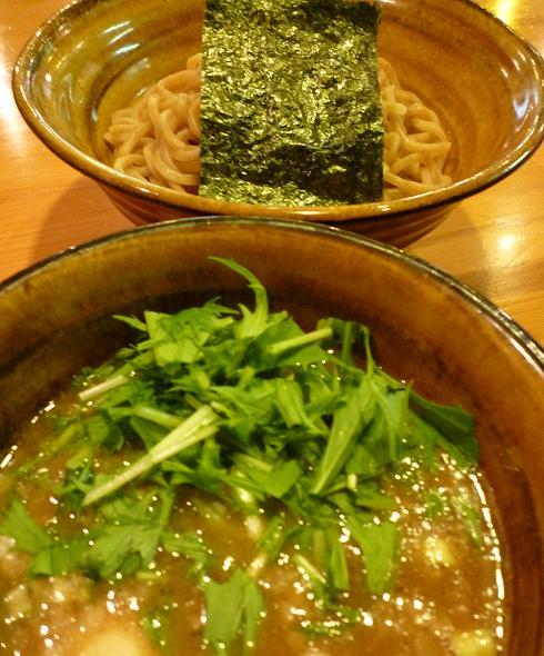 『えん寺』 味玉入りつけ麺(アップ)