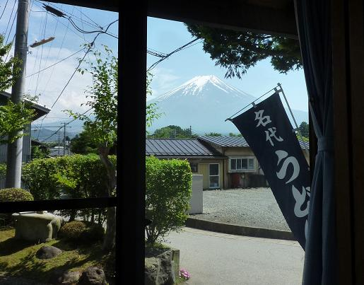 『しんたく』 縁側からの眺望・富士