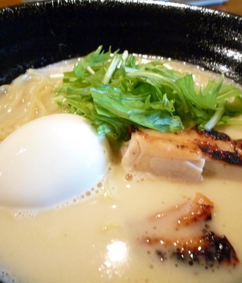 『ほんまれ』 鶏白湯魚だし塩ラーメン(アップ)
