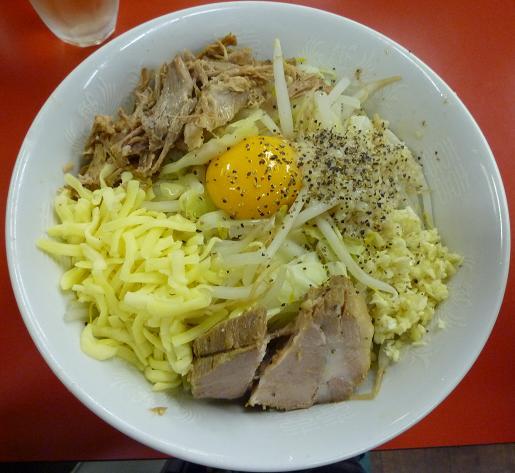 『豚喜』 汁なし(780円)
