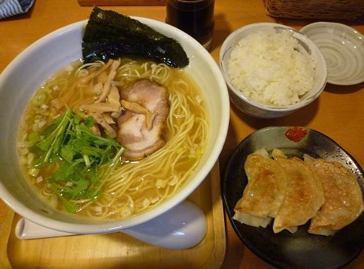 『もぐや』 塩ら~麺(690円)+ランチ(100円)