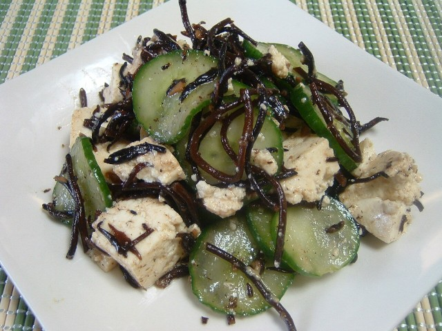 20090819 豆腐チーズのひじきサラダ4