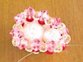 ビーズ 苺のショートケーキストラップ