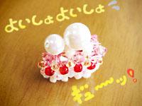 苺のショートケーキ パールビーズ