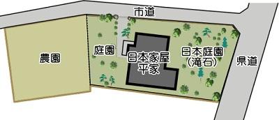 泗水日本家屋平家配置図