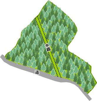 阿蘇山林配置図