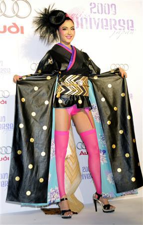 斬新な衣装のミス・ユニバース