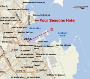 four seasons doha map