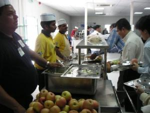 qatar office canteen line