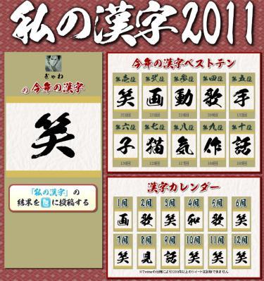 私の漢字2011 ぎゃわ編