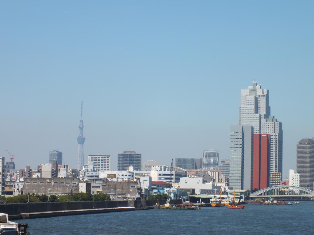 勝鬨橋×東京スカイツリー