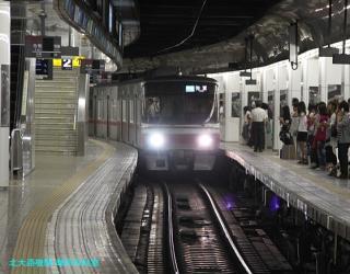 名鉄名古屋 到着する電車の撮影 1