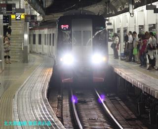名鉄名古屋 到着する電車の撮影 4