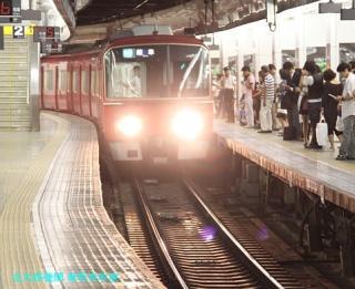 名鉄名古屋 到着する電車の撮影 6