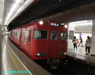 名鉄名古屋 到着する電車の撮影 8