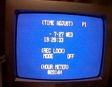 設定画面。文字は英語です。これは時計設定関連