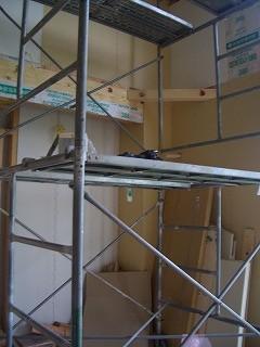 木工事 室内足場