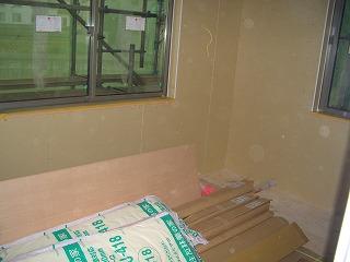 木工事 石膏ボード施工状況