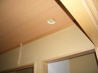 木工事 和室 天井穴