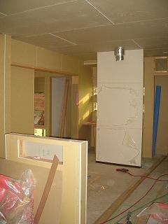 木工事 キッチン 壁