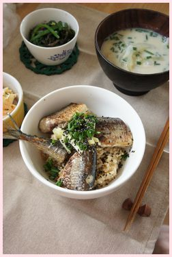 さんまご飯定食111218-1