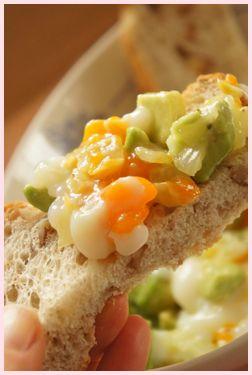 アボカドと半熟卵サラダ2
