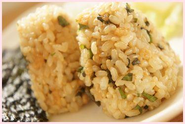 玄米揚げ玉おむすび2