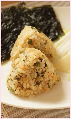 玄米揚げ玉おむすび1