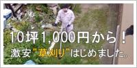 10坪1,000円からの激安草刈り作業
