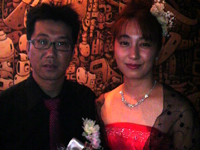 結婚式2人