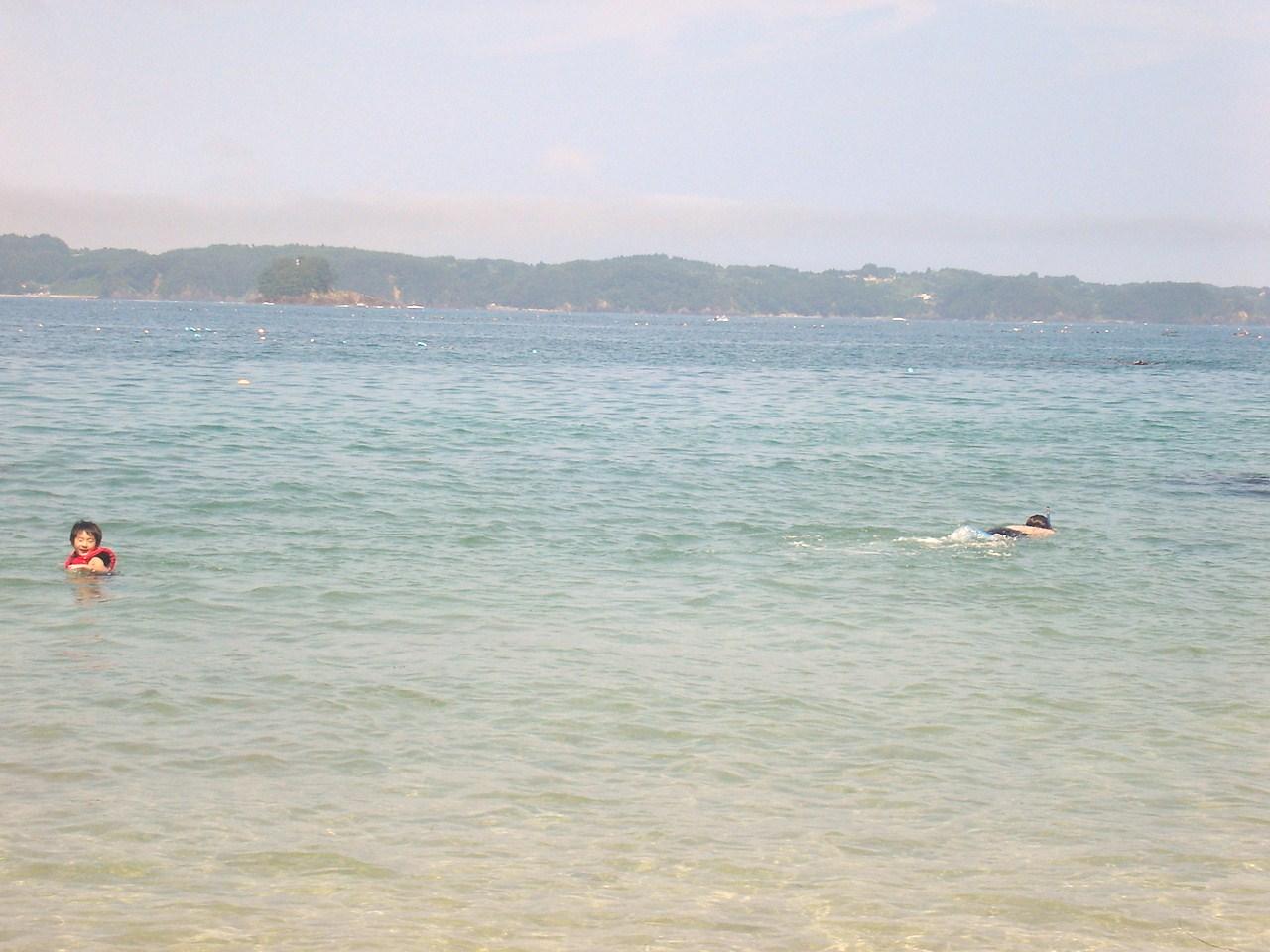 大島 泳ぐ人&潜る人