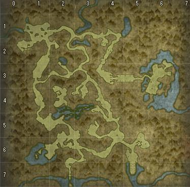 魅惑の森の地図