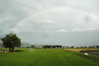 安曇野の虹