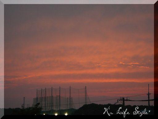 6月23日の夕空