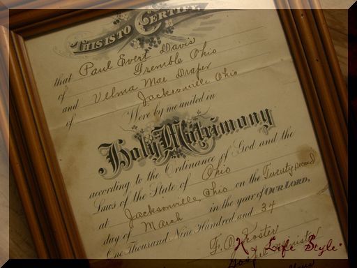 USA結婚証明書