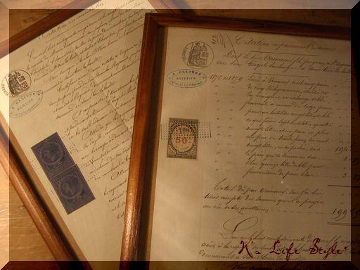 フランスの古文書.