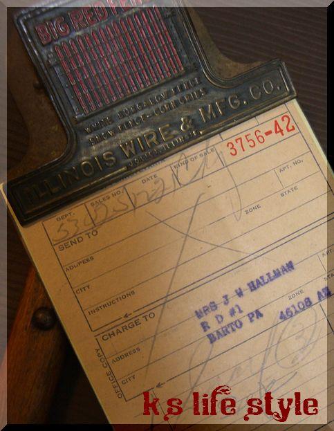 USAアンティーク真鍮クリップボード