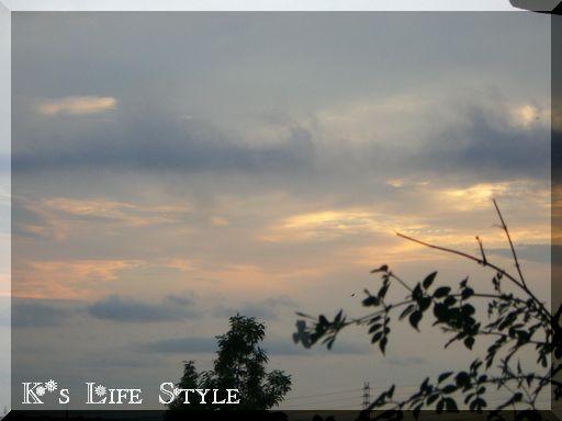 7月21日の西の空