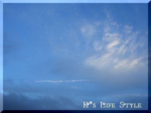 21日一瞬で晴れた南の空