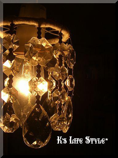 アンティークシャンデリアパーツのランプシェード