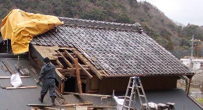 戦前の瓦の屋根