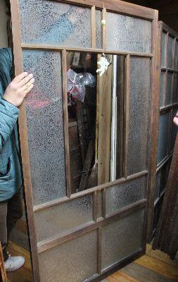 古建具ガラス戸