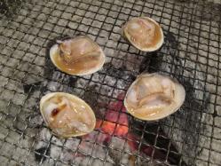ハマグリ炭火焼