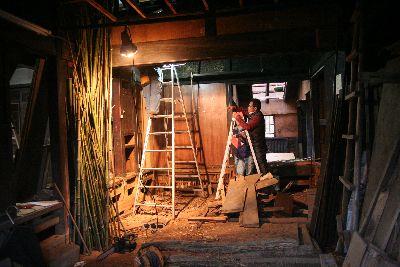 解体後の部屋